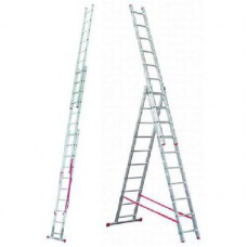 Алюминиевая лестница Алюмет 3х12, Н=7,86/8,86м в Алматы