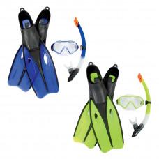 Набор для плавания Bestway 25022 в упаковке: маска, трубка, ласты в Алматы