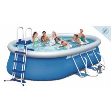 Каркасный бассейн с надувными бортами Bestway 56461 549x366x122cm в Алматы