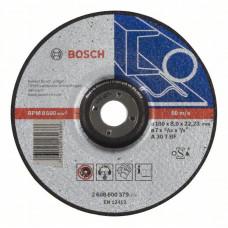 Обдирочный круг, выпуклый Bosch 180 x 8,0 mm 2608600379 в Алматы