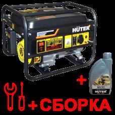 Электрогенератор бензиновый Huter 4000FSL + масло и сборка в Алматы