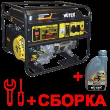 Бензиновый генератор HUTER 6500FSL + масло и сборка в Алматы