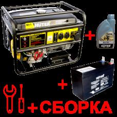 Бензиновый генератор HUTER 8000FSX + масло, аккумулятор и сборка в Алматы
