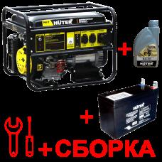 Электрогенератор HUTER 9500FSX +масло, аккумулятор и сборка в Алматы