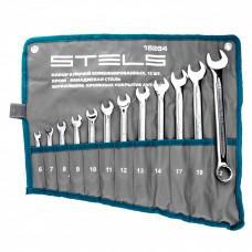 Набор ключей комбинированных 12 шт, 6-22 мм,антислип Stels 15284 в Алматы