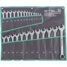 Набор ключей комбинированных 6-32 мм, 26 шт., CrV, матовый хром// STELS 15431 в Алматы