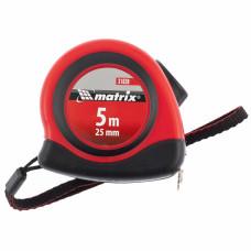 Рулетка Status autostop magnet, 5 м х 25 мм, двухкомпонентный корпус, зацеп с магнитом MATRIX 31038 в Алматы