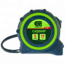 Рулетка Сапфир, двухкомпонентный корпус, 5 м х 19 мм// СИБРТЕХ 32581 в Алматы