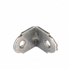 Уголок мебельный усиленный, 2,0 мм, 20х20х16 мм, цинк// СИБРТЕХ 46512