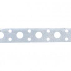 Лента перфорированная вентиляционная прямая, 0,55 мм, LP V, 1,7 см х 25 м, цинк// СИБРТЕХ 46549 в Алматы