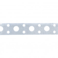 Лента перфорированная вентиляционная прямая, 0,7 мм, LP V, 2 см х 25 м, цинк// СИБРТЕХ 46550 в Алматы
