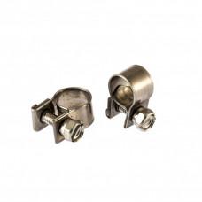Хомуты металлические, MINI 9-11 мм, ширина 9 мм, винтовой, W4, 2 шт. Сибртех 475023 в Алматы