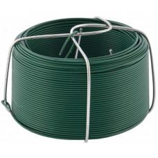 Проволока с ПВХ покрытием, зеленая 0,9 мм, длина 50 м. СИБРТЕХ 47770 в Алматы