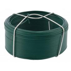 Проволока с ПВХ покрытием, зеленая 1,2 мм, длина 50 м. СИБРТЕХ 47771 в Алматы