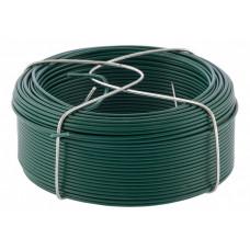 Проволока с ПВХ покрытием, зеленая 1,5 мм, длина 50 м. СИБРТЕХ 47772 в Алматы