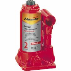 Домкрат гидравлический бутылочный 2 т, h подъема 150–280 мм SPARTA Compact 50331
