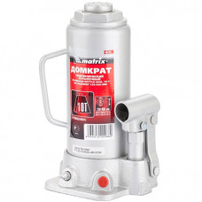 Домкрат гидравлический бутылочный, 10 т, h подъема 230–460 мм MATRIX MASTER 50725