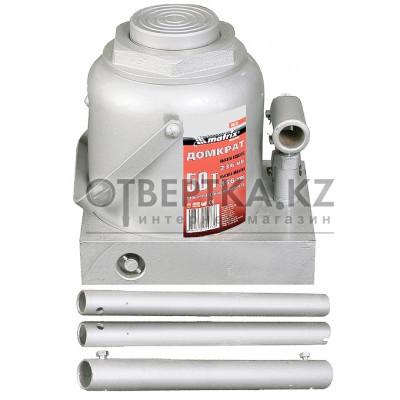 Домкрат гидравлический бутылочный, 50 т, h подъема 236–356 мм MATRIX MASTER 50737