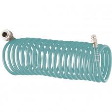 Полиуретановый спиральный шланг профессиональный BASF, 15 м, с быстросъемными соединением Stels 57009 в Алматы