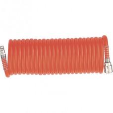 Шланг спиральный воздушный 8х12мм, 18 бар, с быстросъемными соединениями, 10м STELS 57015 в Алматы