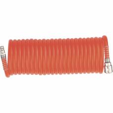 Шланг спиральный воздушный 8 х 12 мм, 18 бар, с быстросъемными соединениями, 15 метров STELS 57019 в Алматы