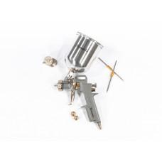 Краскораспылитель пневмат. с верхним бачком V= 0,6 л + сопла диаметром 1.2, 1.5 и 1.8 мм MATRIX 57314 в Алматы
