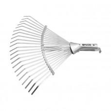 Грабли веерные 22 зуба, без черенка, раздвижные, 270-460 мм// PALISAD 61767 в Астане