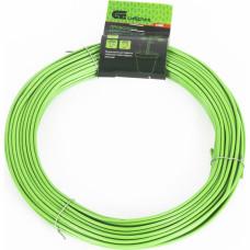 Проволока для подвязки,стальная в ПВХ (зелёный) 25 м ,  внутр. 1,6 мм  / внеш. 3,0 мм //Сибртех 64380 в Алматы