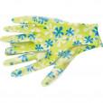 Перчатки садовые из полиэстера с нитрильным обливом, зеленые, L //PALISAD 67743
