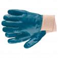 Перчатки рабочие из трикотажа с нитриловым обливом, манжет, M //СИБРТЕХ 67756