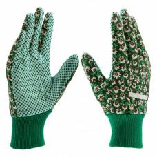 Перчатки садовые х/б ткань с ПВХ точкой, манжет, S //PALISAD 67761 в Алматы