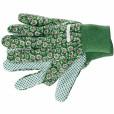 Перчатки садовые х/б ткань с ПВХ точкой, манжет, L //PALISAD 67763