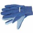 Перчатки рабочие х/б ткань с ПВХ точкой, манжет, XL //СИБРТЕХ 67764