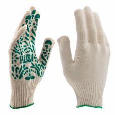 Перчатки садовые х/б, ПВХ-покрытие