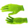 Перчатки нейлон, 13 класс, цвет изумрудный, L// Россия 67823