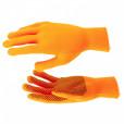 Перчатки нейлон, ПВХ точка, 13 класс, оранжевые, XL// Россия 67845