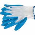 Перчатки полиэфирные с синим нитрильным покрытием маслобензостойкие, L, 15 класс вязки// Сибртех 67862