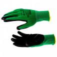 Перчатки полиэфирные с черным нитрильным покрытием маслобензостойкие, L, 15 класс вязки// Palisad 67865