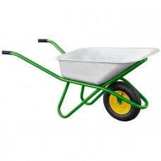Тачка садово-строительная одноколесная, усиленная, грузоподъемность 200 кг, объем 90 л PALISAD 689183 в Алматы