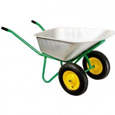 Тачка садово-строительная, 2-х колесная, усиленная, грузоподъемность 320 кг, объем 100 л PALISAD 689233 в Алматы