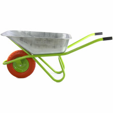Тачка садово-строительная с полиуретановым колесом, грузоподъемность 180 кг, объем 90 л// СИБРТЕХ 689685 в Алматы