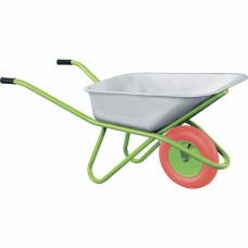 Тачка садово-строительная с PU колесом, грузоподъемность 180 кг, объем 90 л// СИБРТЕХ 68968 в Алматы