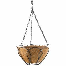 Подвесное кашпо, 25 см, с кокосовой корзиной// PALISAD 69001 в Алматы