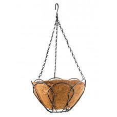 Подвесное кашпо, 30 см, с кокосовой корзиной// PALISAD 69002 в Алматы