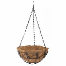Подвесное кашпо с орнаментом, 25 см, с кокосовой корзиной// PALISAD 69003 в Алматы