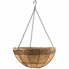 Подвесное кашпо с орнаментом, 30 см, с кокосовой корзиной// PALISAD 69004 в Алматы