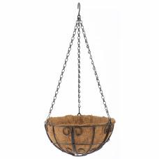 Подвесное кашпо с декором, 25 см, с кокосовой корзиной// PALISAD 69005 в Алматы