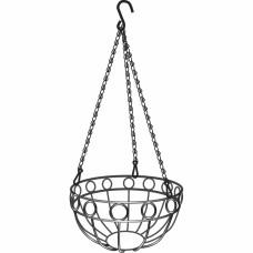 Подвесное кашпо, диаметр 26 см, высота с цепью и крюком 53,5 см// PALISAD 69015 в Алматы
