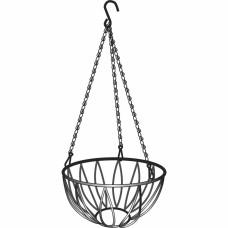 Подвесное кашпо, диаметр 25,4 см, высота с цепью и крюком 53,5 см// PALISAD 69016 в Алматы