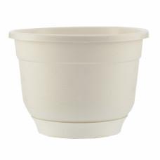 Горшок Флокс с поддоном, белый, 1,5 литра PALISAD 69211 в Алматы